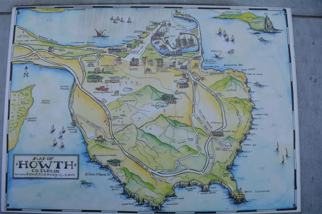 Howth, map of howth