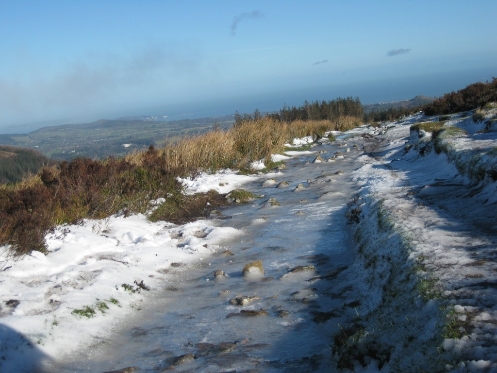 Wicklow Way icy path