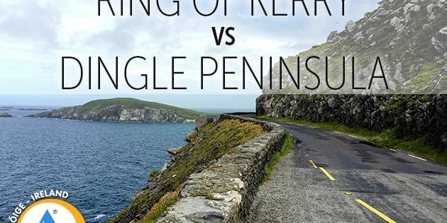 Map Of Ireland Kerry Region.Ring Of Kerry Vs Dingle Peninsula