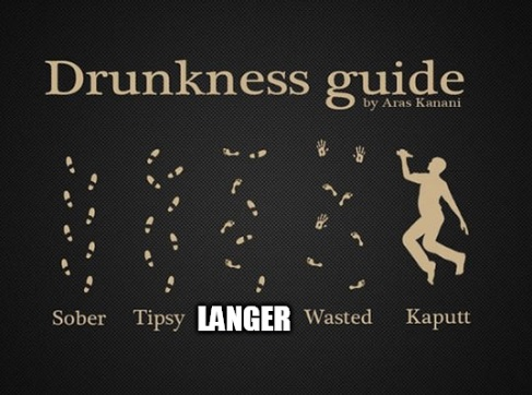 Pissed and langered