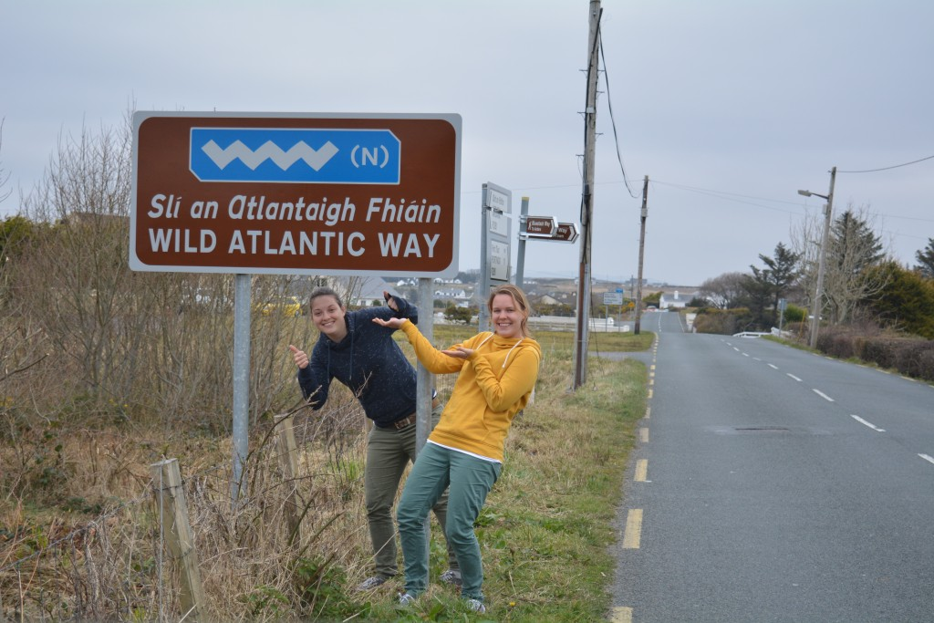 we in front of wild atlantic way sign