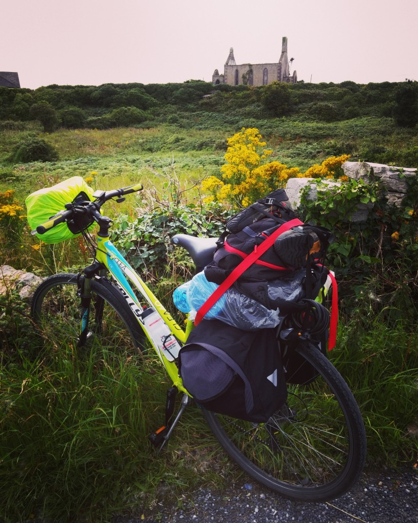 My packed bicycle on Inishmore