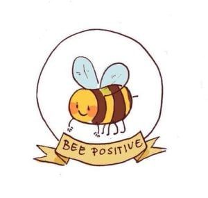bee positive logo